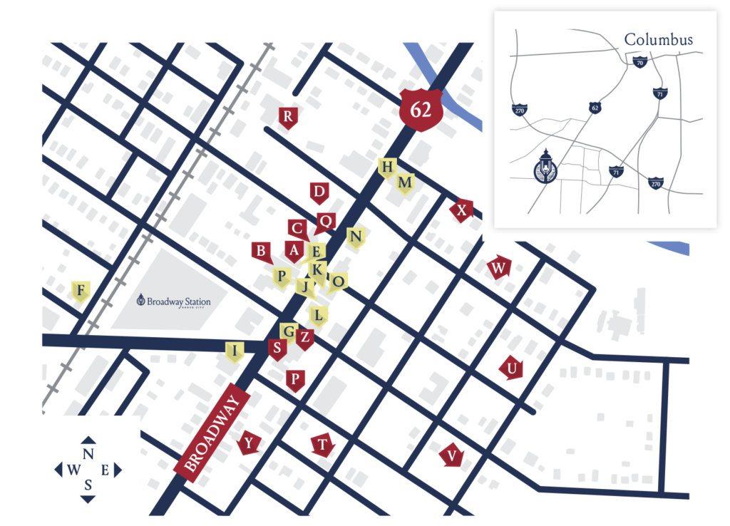 Broadway station map